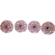 SOLD Gorgeous Vintage Pink Glass Curtain Tie Backs (4)