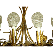 Vintage Czech Beaded Glass Bulb Cover Shades Pair