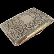 Hallmarked 1904 Birmingham Sterling Silver Case
