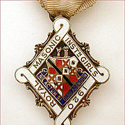 1920 Royal Masonic Institution for Girls Sterling Enamel Medal