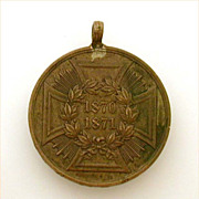 1870-1871 German Coin Medal Franco Prussian War with Iron Cross Motif