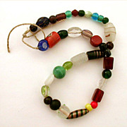 Venetian Glass Trade Bead Necklace with 37 Unique Examples