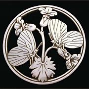 Georg Jensen Wendel c. 1945 Sterling Butterfly Pin Malinowski Design