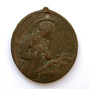 Early Bronze Catholic Medal Jesuit Saint Aloysius Gonzaga