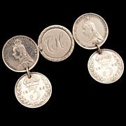 1889 Queen Victoria Love Token 3 Pence Dangle Pin Sterling