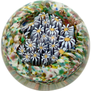 Italian Millefiori Paperweight with Goldstone