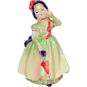 Royal Doulton BABIE Figurine - Beauty in Long Gown, Bonnet, Fingerless Gloves - English Bone C