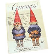 1977 GNOMES 1st Edition Hardback Book by Rien Poortvliet & Wil Huygen