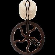 Antique Wheelwright Blacksmiths Wagon Wheel Measuring Tool 1800s Cast Iron