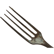 Antique Shipwreck Encrusted Metal Fork, Pirate Sunken Treasure, Salvaged Ocean Artifact, Boat