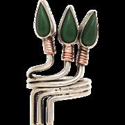 Egyptian Revival Sterling Lotus Blossom Ring, Adjustable