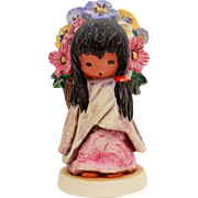 1983 DeGrazia Flower Girl, Figurine Goebel Degrazia, Southwest Style Wedding Flower Girl, Etto
