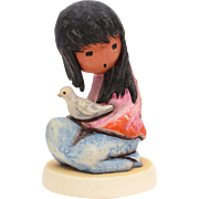 The White Dove DeGrazia Goebel Figurine, American Impressionist Ettore Ted DeGrazia, Native Am