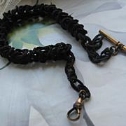 Antique Braided Hair watch Chain