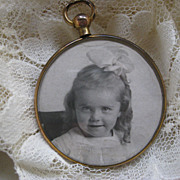 SALE Lovely Old Picture Frame Locket