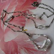 Circa 1940 Cut Crystal Necklace