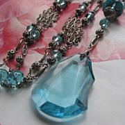 Art Deco Opera Length Crystal Necklace