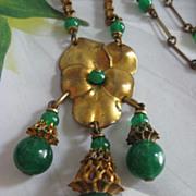 SALE Unique Edwardian Pansy Necklace