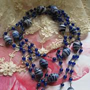 Art Deco Art Glass Beaded Necklace