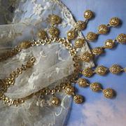 Vintage Victorian Revival Bib Necklace