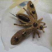 Victorian Cut Steel Fly Pin