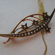 Victorian 10K Honeymoon Pin