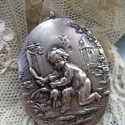 Antique Silver Snuff Locket