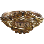 Antique Bangle Bracelet in Gold Fill     1908