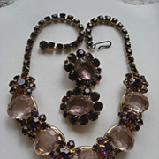 SALE Juliana Necklace and Clip On earrings