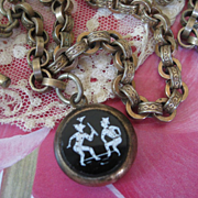 Antique Watch Chain  with Fob