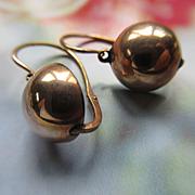 Victorian 10K Rose Gold Pierced Earrings