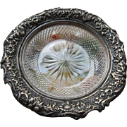 Sterling Cut Glass Ring Tray