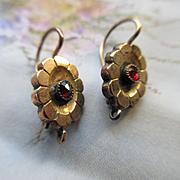 Victorian 10K Pierced Earrings, Antique Earrings, Victorian Earrings