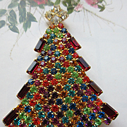 SOLD Dominique Christmas Tree Pin