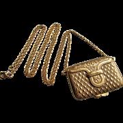 Estee Lauder Solid Perfume Purse Compact Necklace