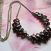 Vintage Natural Garnet Necklace