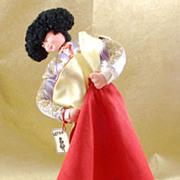 SALE Vintage Layna Matador Bull Fighter Cloth Doll Spain