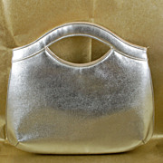 Vintage Shimmering Silver Miss Lewis Clutch Purse Evening Bag
