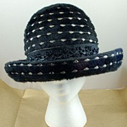 SALE Vintage Bellini Black Hat with Brim