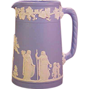 Wedgwood Blue and White Pitcher Cream Jug
