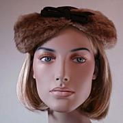 1940 Designer Mink Hat