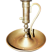SOLD Vintage Brass Push-up Chamberstick