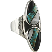 Vintage Sterling and Turquoise Ring ca 1970's