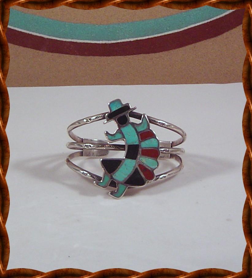 Zuni Rainbow Man Bracelet ca 1970's