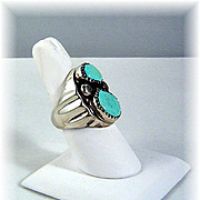 Navajo Sand Cast Man's Ring