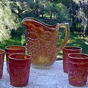Rich Pumpkin Marigold Grape  Water Set