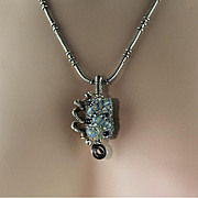 Gorgeous Hand Made Lampwork Bead Necklace