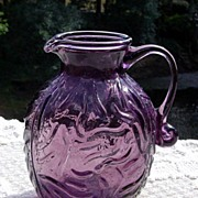 Amethyst Textured Bark Miniature Pitcher ca 1960's