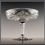 American Cut Glass Compote