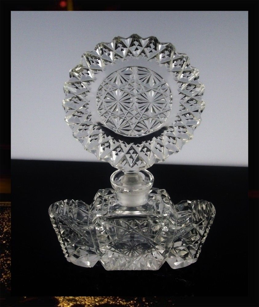 Dramatic Cut Crystal Perfume Bottle